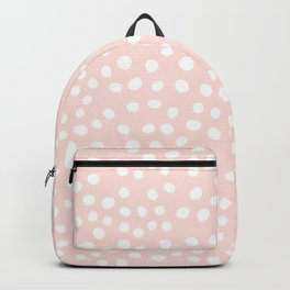 Pink and white doodle dots Backpack