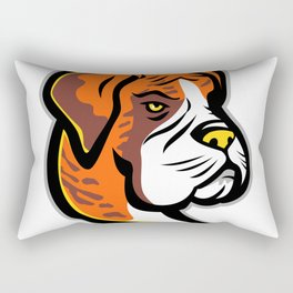Boxer Dog Mascot Rectangular Pillow