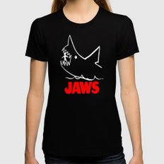 Jaws Womens Fitted Tee X-LARGE Black