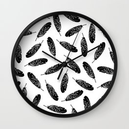 Tribal Feather Wall Clock