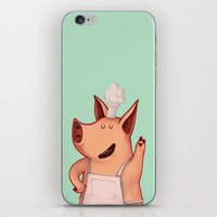 piglet iPhone & iPod Skins featuring Dress the Piglet by Anna Cannuzz