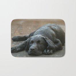 Labrador dog in the rain ! Bath Mat