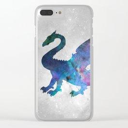 Galaxy Series (Dragon) Clear iPhone Case
