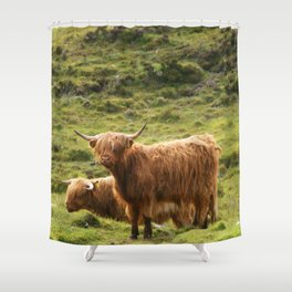 Highland Cows Shower Curtain