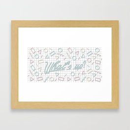 What's Up? Framed Art Print