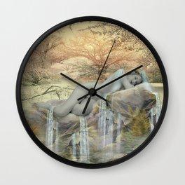 Sleepy Falls Wall Clock