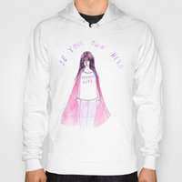 feminist Hoodies featuring Feminist Hero by Ambivalently Yours
