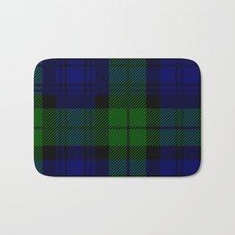 Scottish Campbell Tartan Pattern-Black Watch #2 Bath Mat