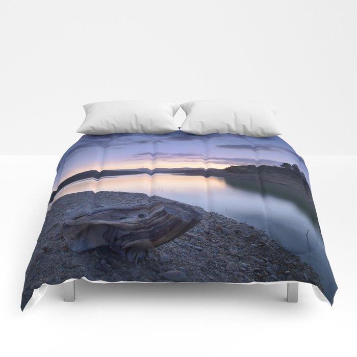 """Mountain light"". Blue sunset. Comforters"