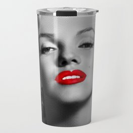 A female mouth - Marylin M. Travel Mug