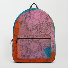 Floral Puzzle Backpack