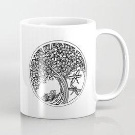 Tree Mandala in Rose Gold Coffee Mug