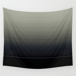 Ombre Grey Navy Black Abstract Design Wall Tapestry