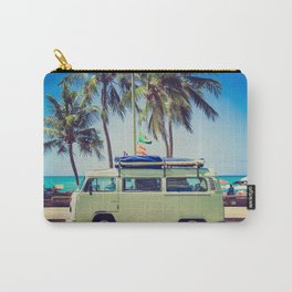 Camper on beach Carry-All Pouch