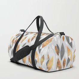 Falling Gold Leaves Duffle Bag
