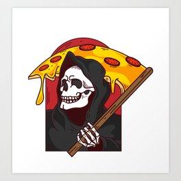 Mens Pie Till I Die Shirt Funny Pizza T-Shirt I Grim Reaper Pizza Pie Till I Die Shirt Art Print