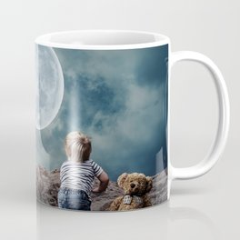 Reach For The Moon and Stars, Child Coffee Mug