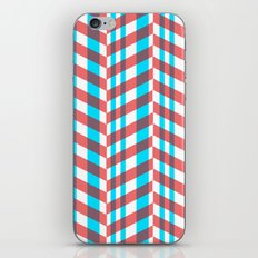 Red Blue Lines Pattern iPhone & iPod Skin