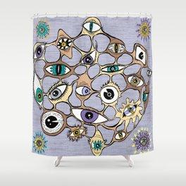 geodesic eyes Shower Curtain