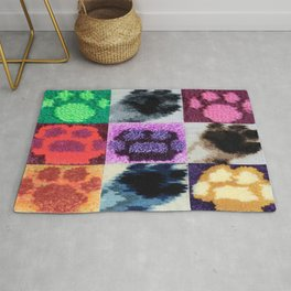 2018 DOG AND CAT PAWS Rug