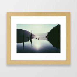 Comox Lake Framed Art Print