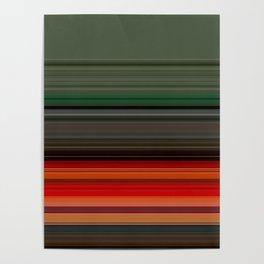 Bold Orange Green Stripes Poster
