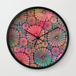Abstract Floral Circles Wall Clock