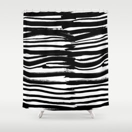 Stripes - Fusion of pen strokes Shower Curtain