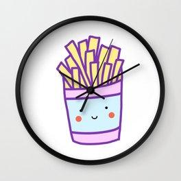Kawaii French Fries (Pastel) Wall Clock