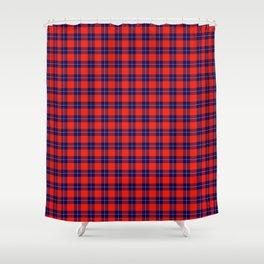 Maasai Shuka - Red & Blue Shower Curtain