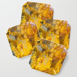 Fire Crystal - gemstones, photography #society6 Coaster