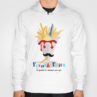 fries Hoodies featuring French Fries by Elisandra Sevenstar