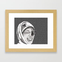 Happiness in Grayscale Framed Art Print