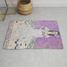 Gustav Klimt Mada Primavesi Portrait Of A Girl Rug