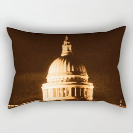 St Paul's Cathedral in Sepia & Dry Brush Effect Rectangular Pillow