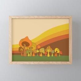 Groovy Mushrooms Framed Mini Art Print