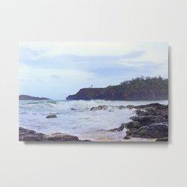 Kilauea Lighthouse Seen from Secret Beach Metal Print