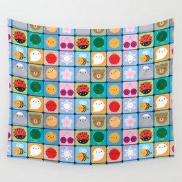 Kawaii Seasons Wall Tapestry