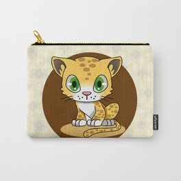 Cute baby cat leopard cartoon Carry-All Pouch