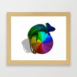 Spinning Beach Ball of Death Chameleon Framed Art Print