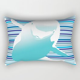 Beluga Kiss Rectangular Pillow