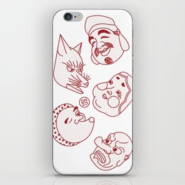 Japanese Masks iPhone Skin