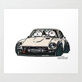 Crazy Car Art 0155 Art Print