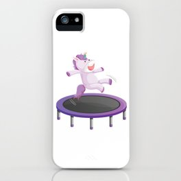 Fitness Exercise Gym Magical Creatures Myth Horse Lovers Gift Unicorn Trampoline iPhone Case
