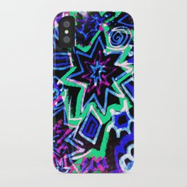 Pop Art Blues iPhone Case