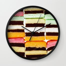 Stack of assorted liquorice Wall Clock