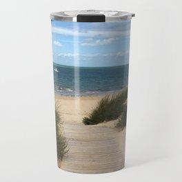 Breezy Seaside Path Travel Mug