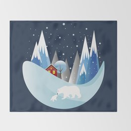 Snowing Bubble Throw Blanket