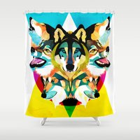wolves Shower Curtains featuring wolves by Alvaro Tapia Hidalgo