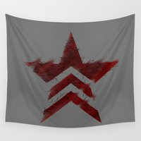 mass effect Wall Tapestries featuring Renegade Interrupt - Mass Effect by IS0metric